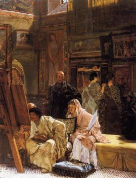 The Picture Gallery Artwork by Sir Lawrence Alma-Tadema