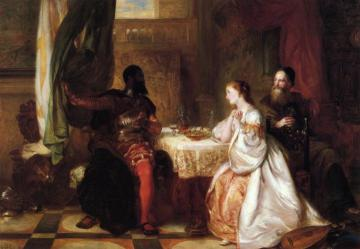 Othello Recounting His Adventures To Desdemona Artwork by Robert Alexander Hillingford