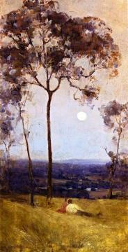 Above Us The Great Grave Sky Artwork by Sir Arthur Streeton