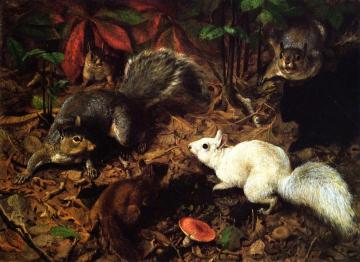 Squirrels Artwork by William Holbrook Beard
