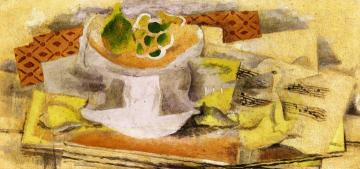 Fruit Bowl And Score Artwork by Georges Braque