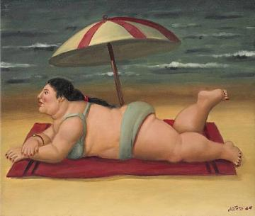 The Beach Artwork by Fernando Botero