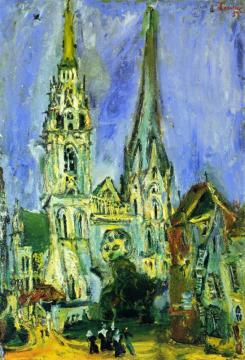 Chartres Cathedral Artwork by Chaim Soutine