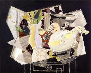 Vase, Palette and Mandolin Artwork by Georges Braque