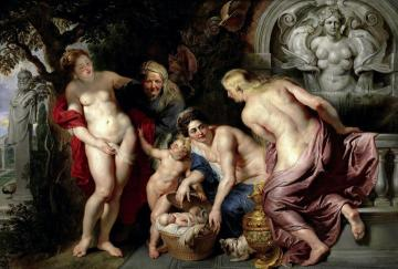 The Discovery of the Child Erichthonius Artwork by Peter Paul Rubens