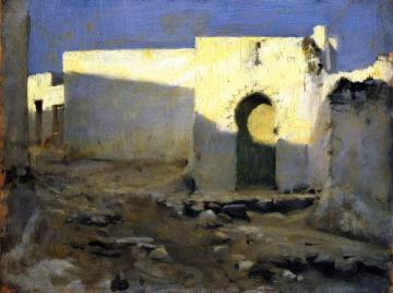 Moorish Buildings in Sunlight Artwork by John Singer Sargent
