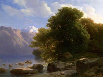 The Lake of Thun Artwork by Alexandre Calame
