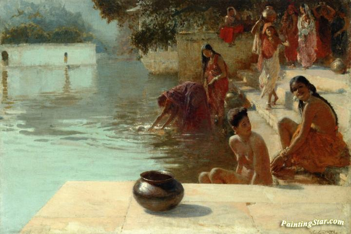 Womans Bathing Place I Oodeypore India Artwork By Edwin Lord Weeks