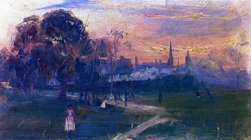 Evening Game Artwork by Sir Arthur Streeton