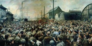 Vladimir Lenin At The Rally Of Putilov Plant Workers In May 1917 Artwork by Isaak Brodsky