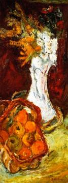 Still Life With Bouquet And Basket Of Fruit Artwork by Chaim Soutine