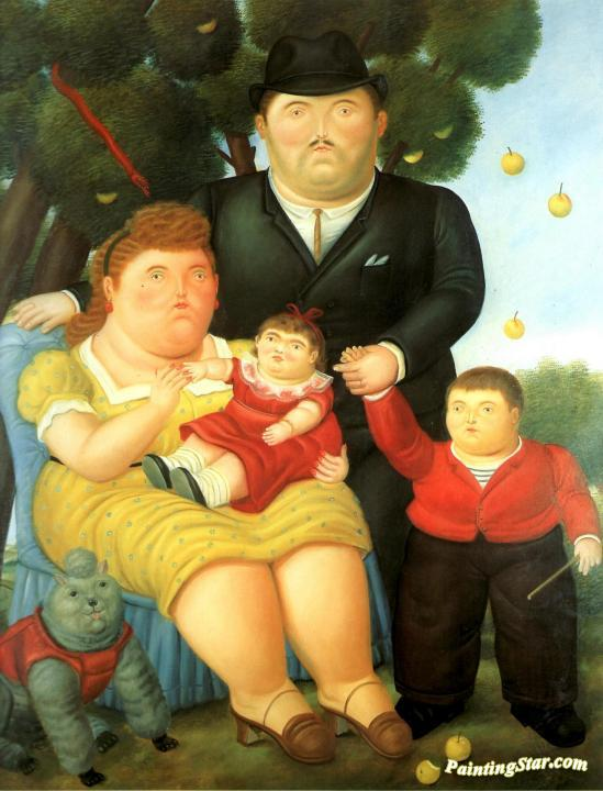 Family Artwork by Fernando Botero