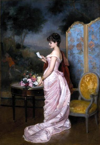 The Love Letter, 1883 Artwork by Auguste Toulmouche