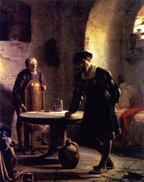 Christian II in Prison at Sonderborg Castle Artwork by Carl Heinrich Bloch