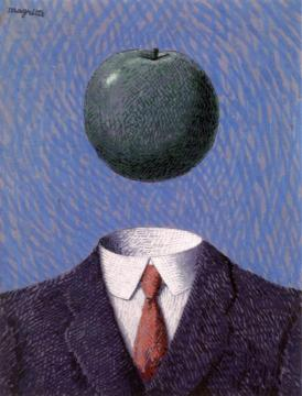 L'Idée fixe Artwork by Rene Magritte