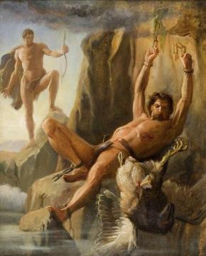 The Liberation of Prometheus (preliminary study) Artwork by Carl Heinrich Bloch