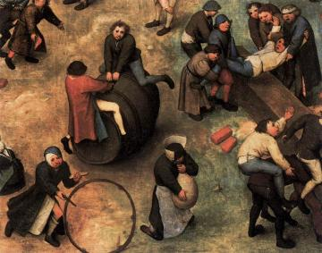 Children's Games (detail) Artwork by Pieter Bruegel the Elder