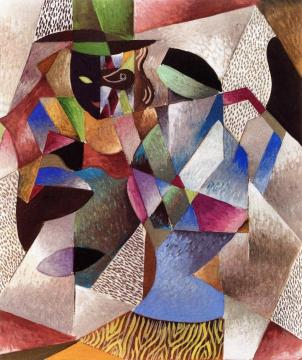 Masked Man With Hat Artwork by Jean Metzinger