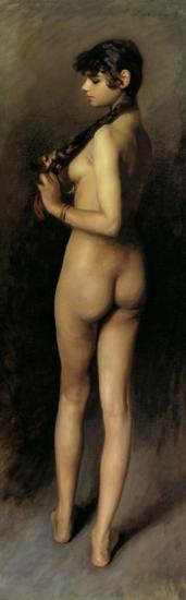 Nude Study Of An Egyptian Girl Artwork by John Singer Sargent