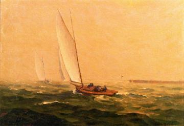 A Windy Sail Artwork by Frank V. Dudley