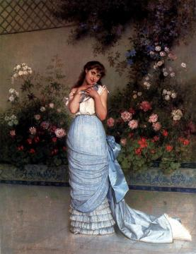 An Elegant Beauty Artwork by Auguste Toulmouche