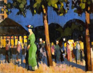 Carrefour de l'Observatoire Artwork by John Duncan Fergusson