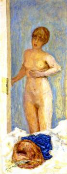 Nude with a Fur Hat Artwork by Pierre Bonnard