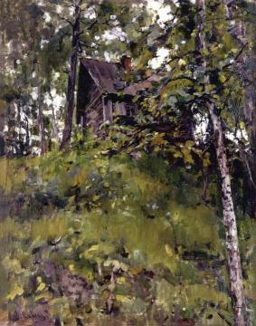 Old Bath House in Domotkanovo Artwork by Valentin Serov