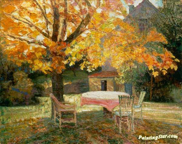 In The Autumn Garden Artwork By Victor Charreton Oil