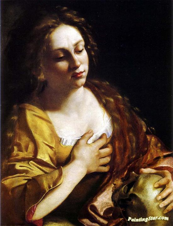 Penitent Magdalene, Art Painting by Artemisia Gentileschi