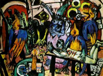 Bird's Hell Artwork by Max Beckmann