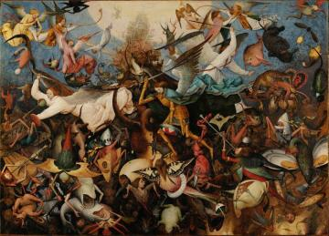 The Fall Of The Rebel Angels Artwork by Pieter Bruegel the Elder