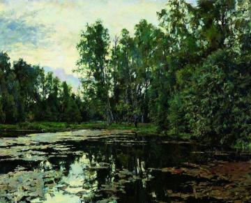 Overgrown pond. Domotkanovo Artwork by Valentin Serov