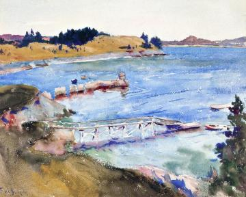Our Cove Artwork by Frank W. Benson