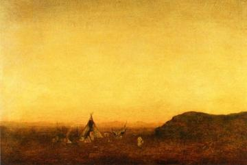 Indian Camp Artwork by Ralph Albert Blakelock