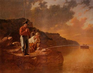 Fishing On The Mississippi Artwork by George Caleb Bingham