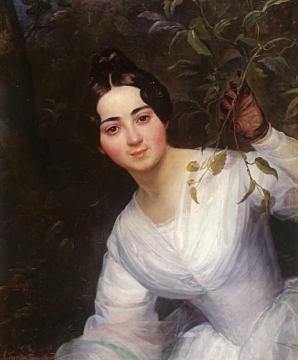 Portrait of M. S. Voeykova Artwork by Karl Pavlovich Bryullov