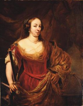 Portrait Of Louise Marie Gonzaga De Nevers, Queen Of Poland Artwork by Ferdinand Bol