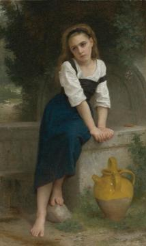 Orpheline à la fontaine Artwork by William Adolphe Bouguereau
