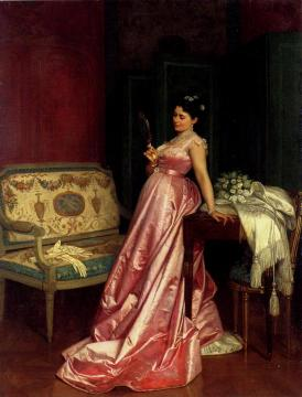 The Admiring Glance Artwork by Auguste Toulmouche