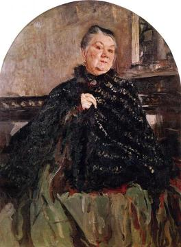 Portrait of the Actress Glikeria Fedotova Artwork by Valentin Serov