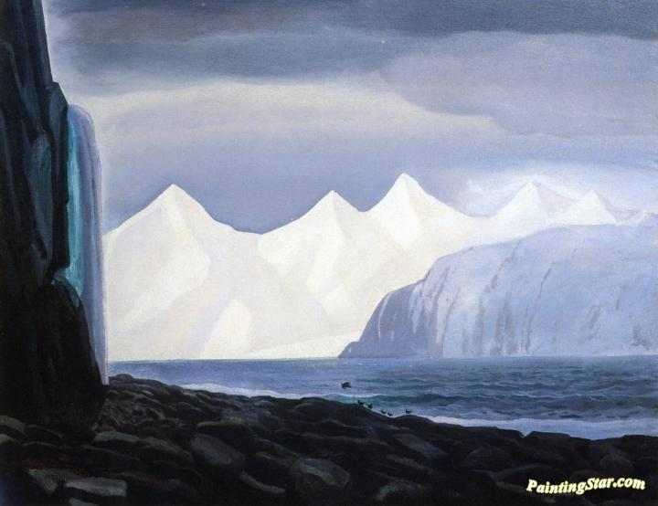 Bear Glacier Alaska Artwork By Rockwell Kent Oil
