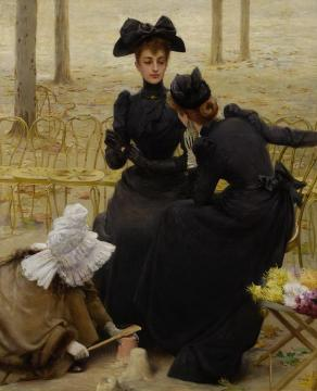 Conversations in the Garden of Luxembourg Artwork by Vittorio Matteo Corcos