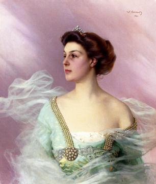 Portrait Of A Lady Artwork by Vittorio Matteo Corcos