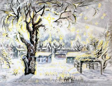 Winter Diamonds Artwork by Charles Burchfield