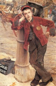 London Bootblack Artwork by Jules Bastien-Lepage