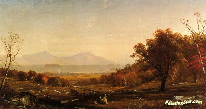 Lake George From Bolton Artwork by Alfred Thompson Bricher
