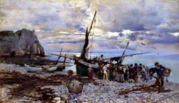 The Return Of The Fishing Boats Artwork by Giovanni Boldini