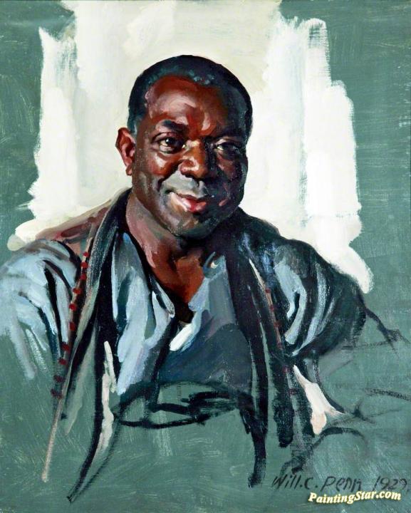 Head Of A Black Man Artwork By William Charles Penn Oil