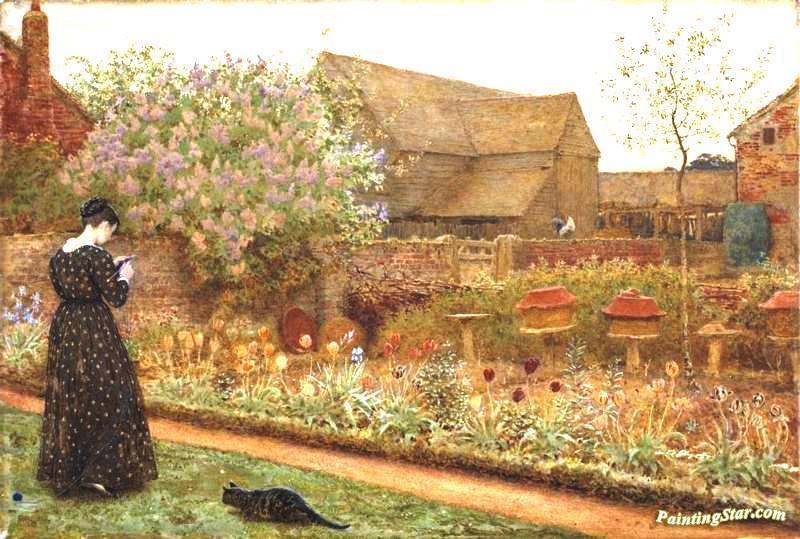 The Old Farm Garden Artwork By Frederick Walker